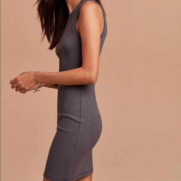 Aritzia Dresses & Skirts - Bodycon Midi Grey Aritzia Dress Size L